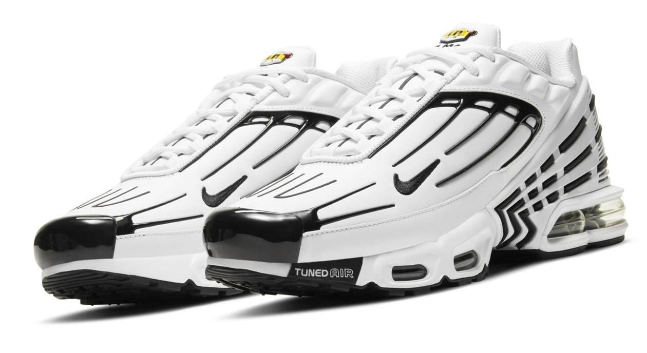 Nike Air Max Plus 3 Leather White/White/Chile Red/Black