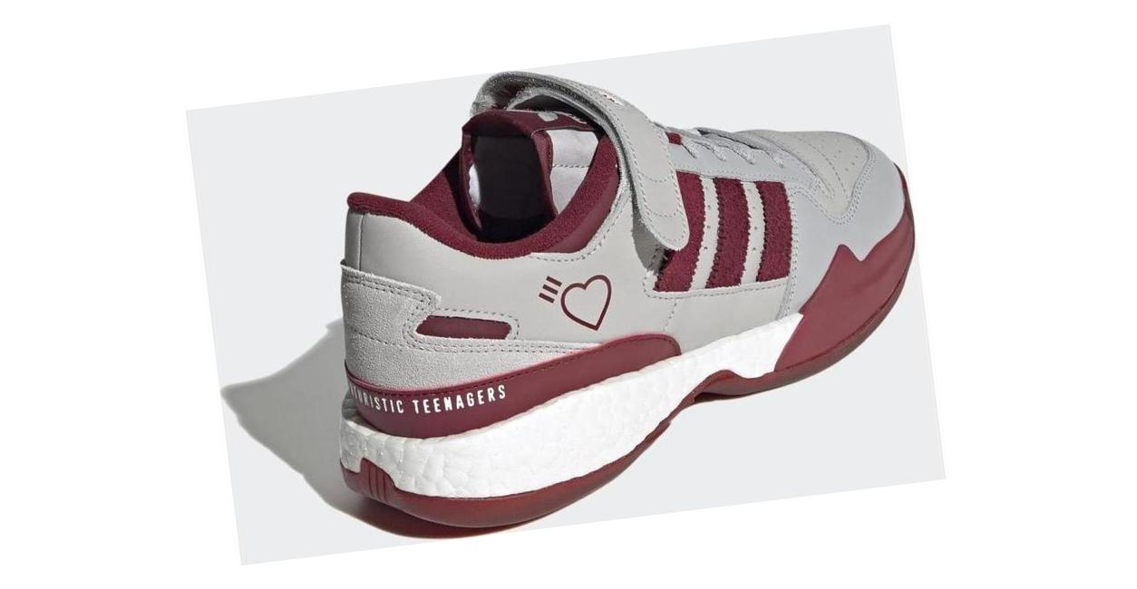 adidas Human Made Forum Grey Two / Collegiate Burgundy / Core Black