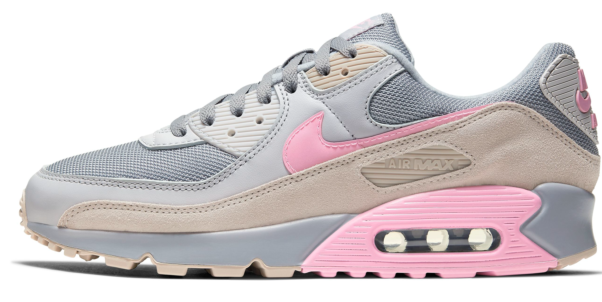Nike Air Max 90 Sail / Midnight Blue / Brown Rubber / Red
