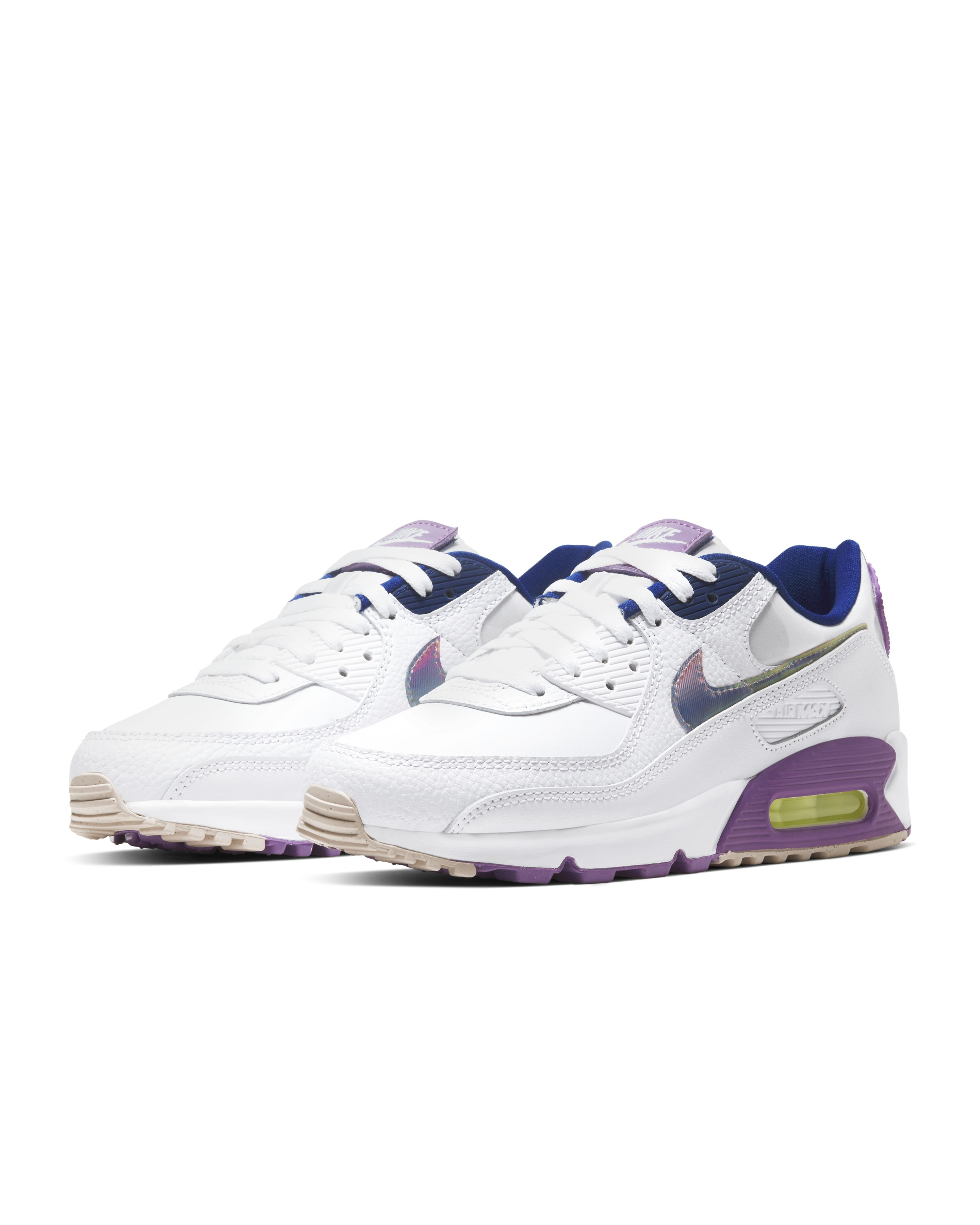 Nike Air Max 90 SE White/Purple Nebula/Barely Volt/Multi-Colour
