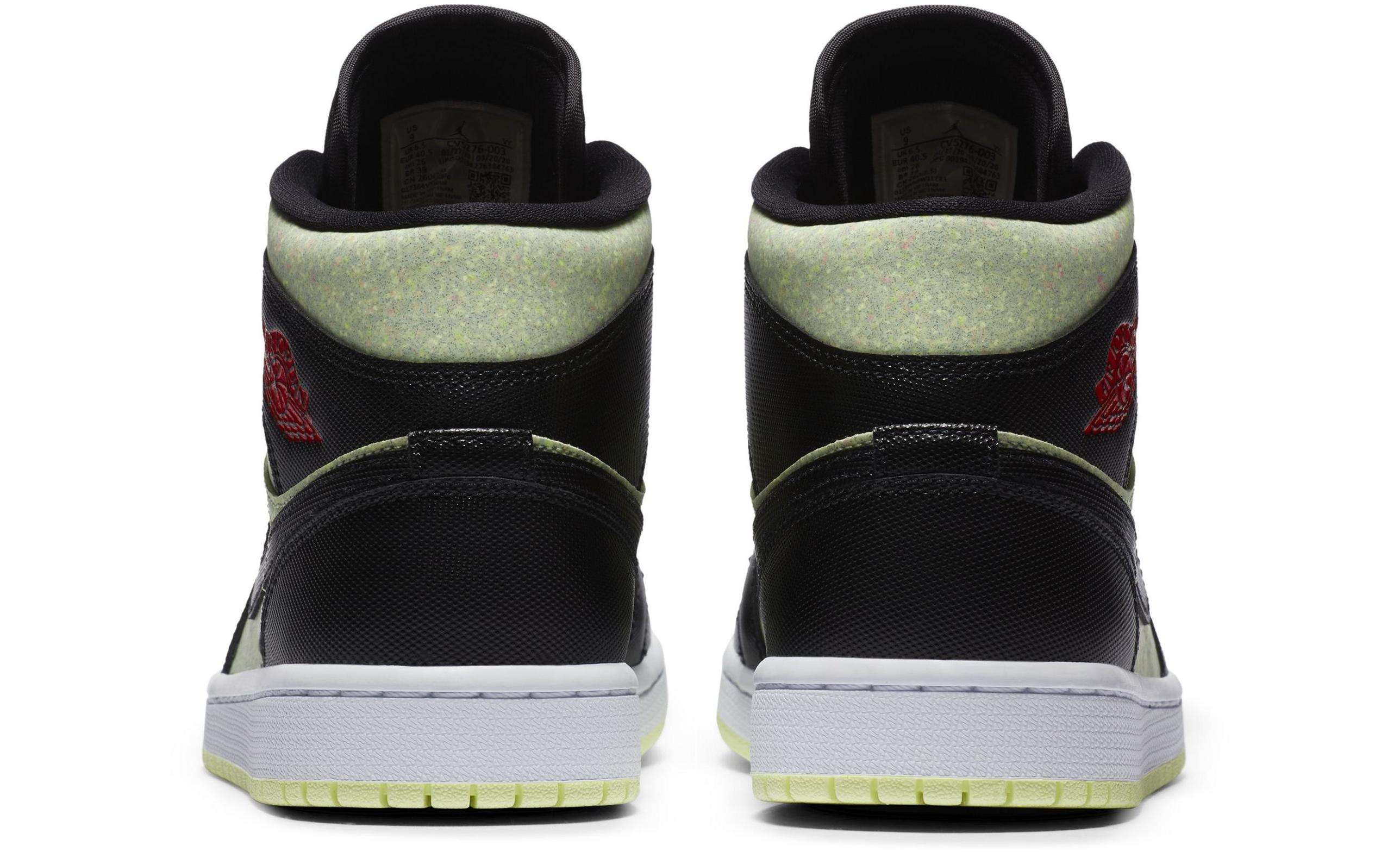 Air Jordan 1 Mid SE Black/Barely Volt/White/Chile Red