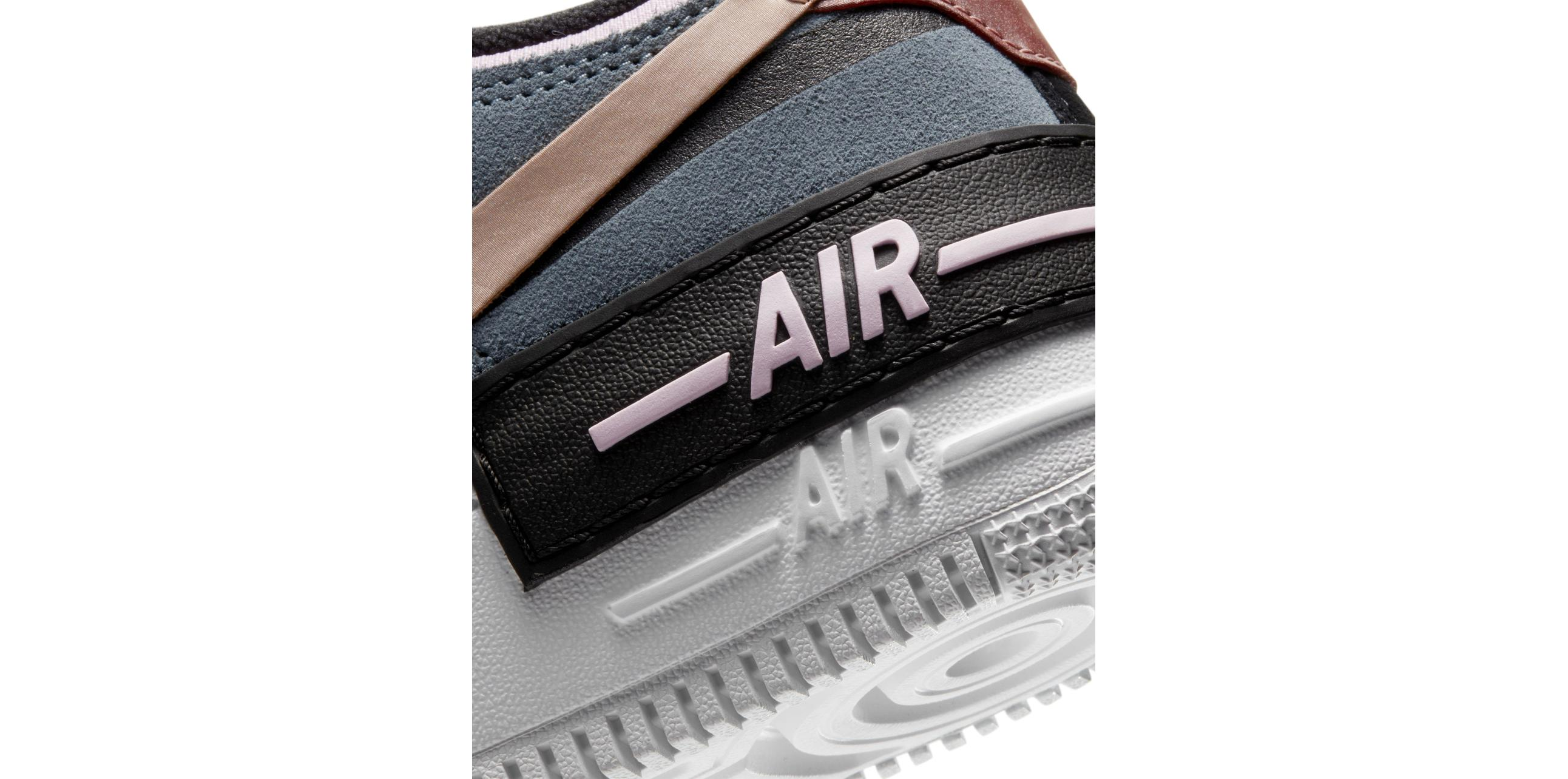 Nike Air Force 1 Shadow Black / Metallic Red Bronze / Light Arctic Pink Claystone Red