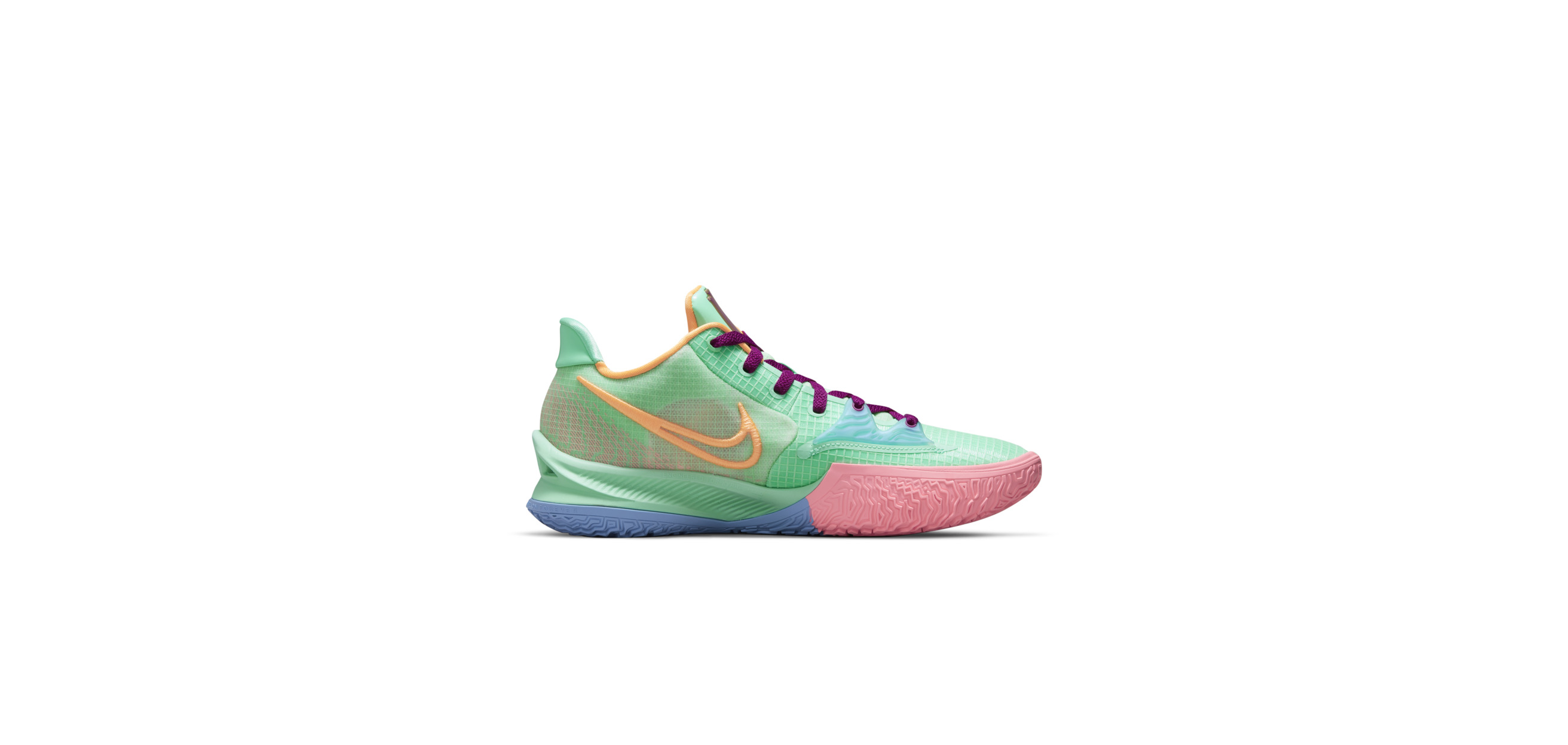 Kyrie Low 4 Green Glow / Red Plum / Metallic Gold / Atomic Orange